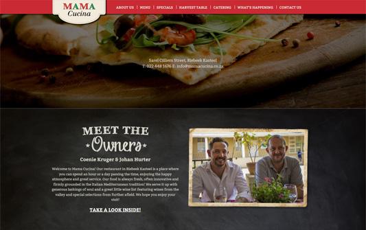 A screenshot of Mama Cucina